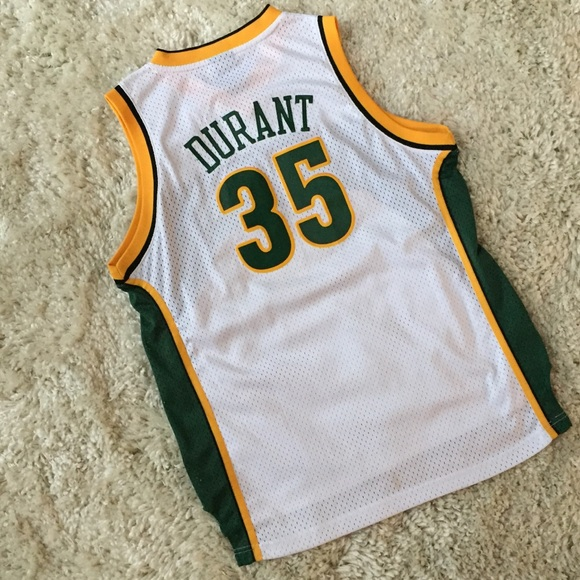 58d4be025 adidas Other - Adidas Kevin Durant Seattle Sonics NBA Jersey YXL